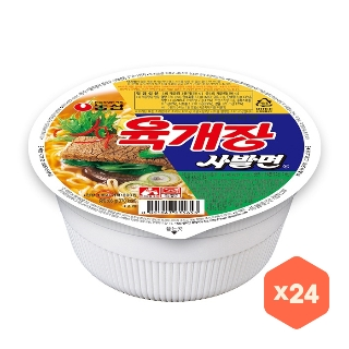 [슈퍼마트] 농심 육개장 사발면 24입