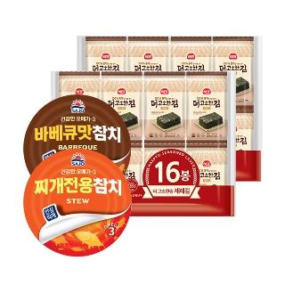 사조 안심따개 바베큐참치 100g 11캔 외 참치/김 3종