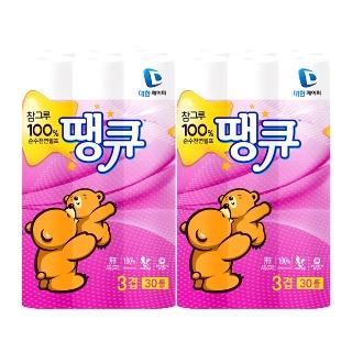 [티몬균일가] 참그루 땡큐 천연펄프 27mx30롤 2팩
