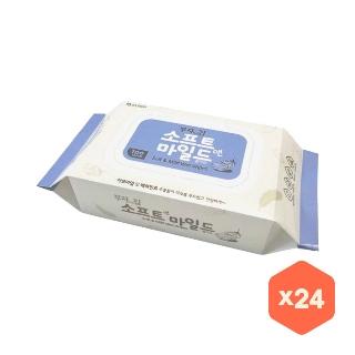 [대용량] 모나리자 부자되는집 물티슈 캡형 100매*24 x 2박스