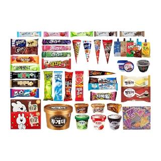 [아이스마켓] 인기 아이스크림 골라담기 (1개씩 / 바,쭈쭈바,콘,샌드,홈등)