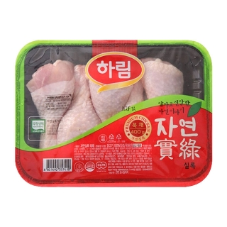 [슈퍼마트] 냉장 하림 무항생제 자연실록 닭다리 400g