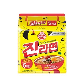 [슈퍼마트] 오뚜기 진라면 매운맛 120gX5입