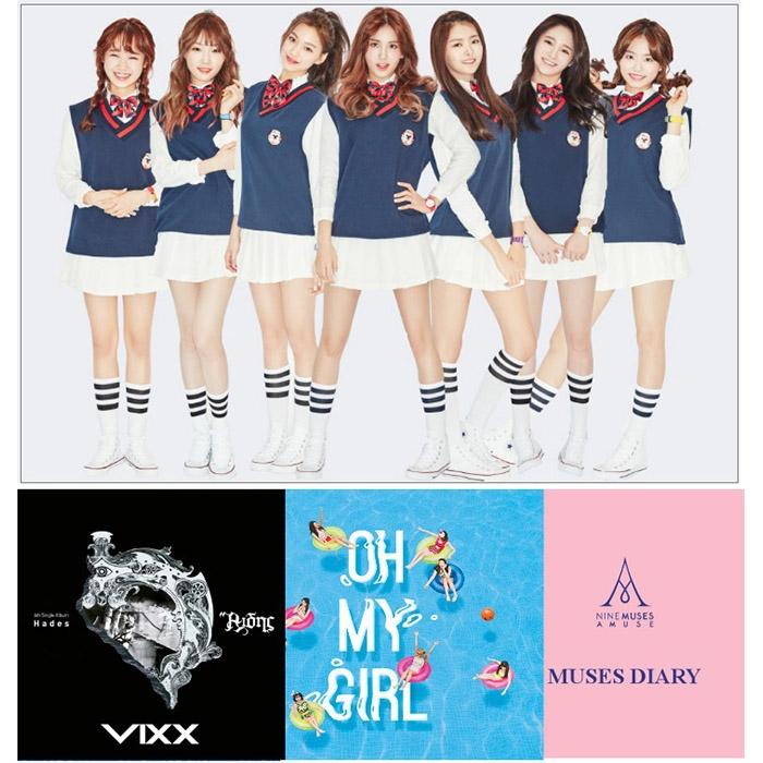 8월의 핫한 아이돌 음반 모음