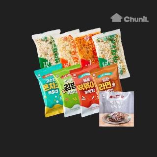 [티몬블랙딜] 천일 볶음밥 10봉+떡갈비1봉 골라담기/야채/김치/새우/라면맛/콘치즈