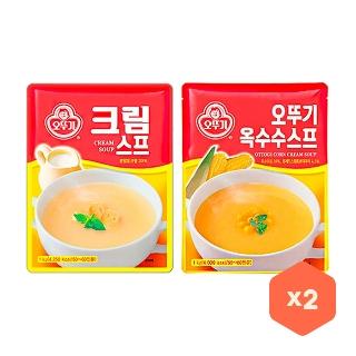[슈퍼마트] 오뚜기 크림스프/옥수수스프 1kg x2개