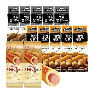 쟌슨빌 먹물쌀/반반/동원 더블빅핫도그 10개