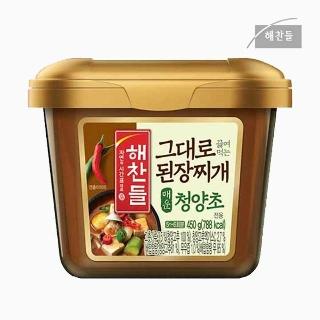 [슈퍼마트] 해찬들 그대로 된장찌개 매운청양초 전용 450g