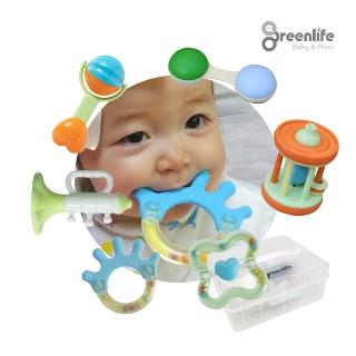 [티몬균일가] 그린라이프 통 딸랑이 치발기 6종세트 신생아 아기 유아 국민 딸랑이세트