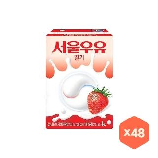 [대용량] 서울우유 멸균 딸기우유 X 200ml X 24팩 X 3박스