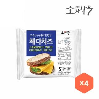 [슈퍼마트] 체다치즈 100g(5입) *4