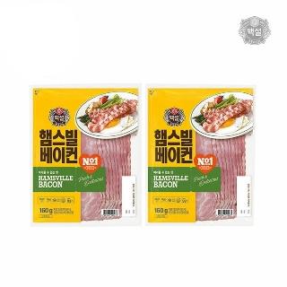[슈퍼마트] CJ 햄스빌 베이컨 160g*2입
