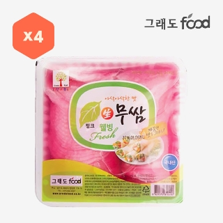 [슈퍼마트][대용량] 핑크무쌈 2.8kg*4입