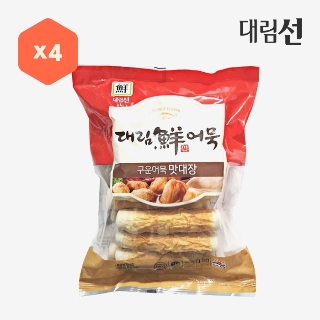 [대용량]대림선어묵 구운어묵 맛대장 1kg*×4입