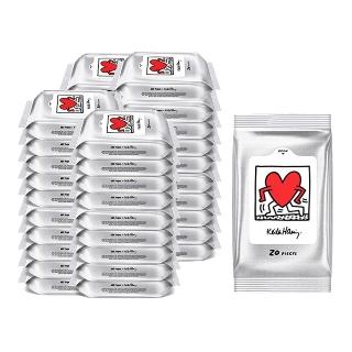 [티몬균일가] 한예지 키스해링 ART 물티슈 휴대용 20매 20팩 x2개