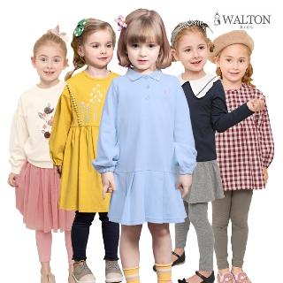 월튼키즈 트랜치코트 상하복 레깅스 원피스 셀레는 봄신상으로 신학기룩 완성