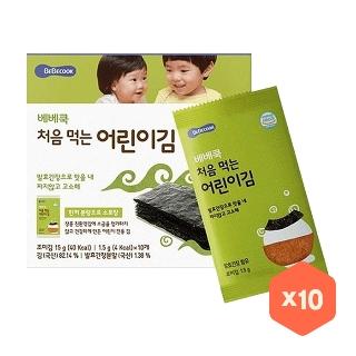 [슈퍼마트] 베베쿡 처음 먹는 어린이 김 오리지널 15g X 10입