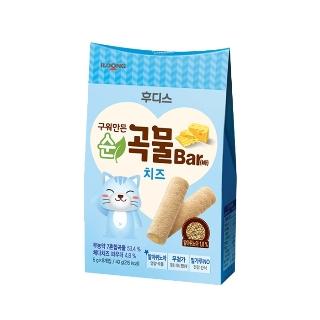[슈퍼마트] 후디스 냠냠 구워만든 순곡물바 치즈 40g (1입/6입)