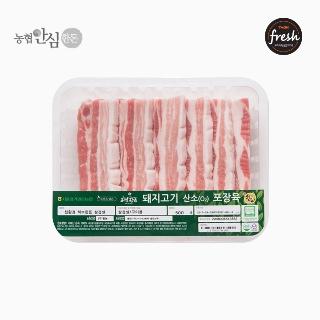 [슈퍼마트] 냉장 허브한돈 삼겹살 500g 1등급 암퇘지 (구이용)