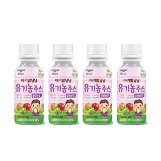 [슈퍼마트] 이기말냠냠 유기농주스 종합과일 120ml 4번들 1박스/6박스