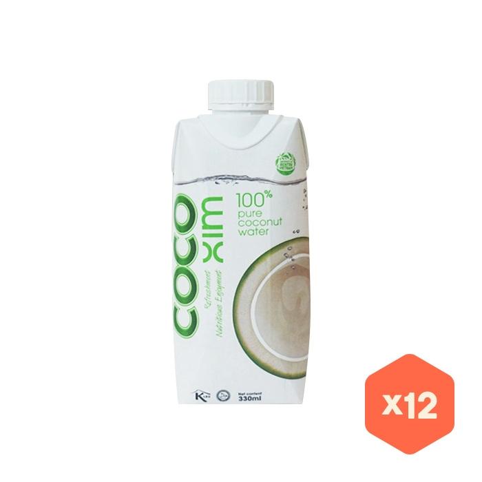 [슈퍼마트] 코코씸 100%퓨어 코코넛워터 330ml x 12개입